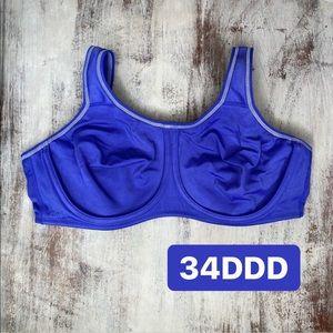 Wacoal purple Unlined Full Coverage bra 34DDD